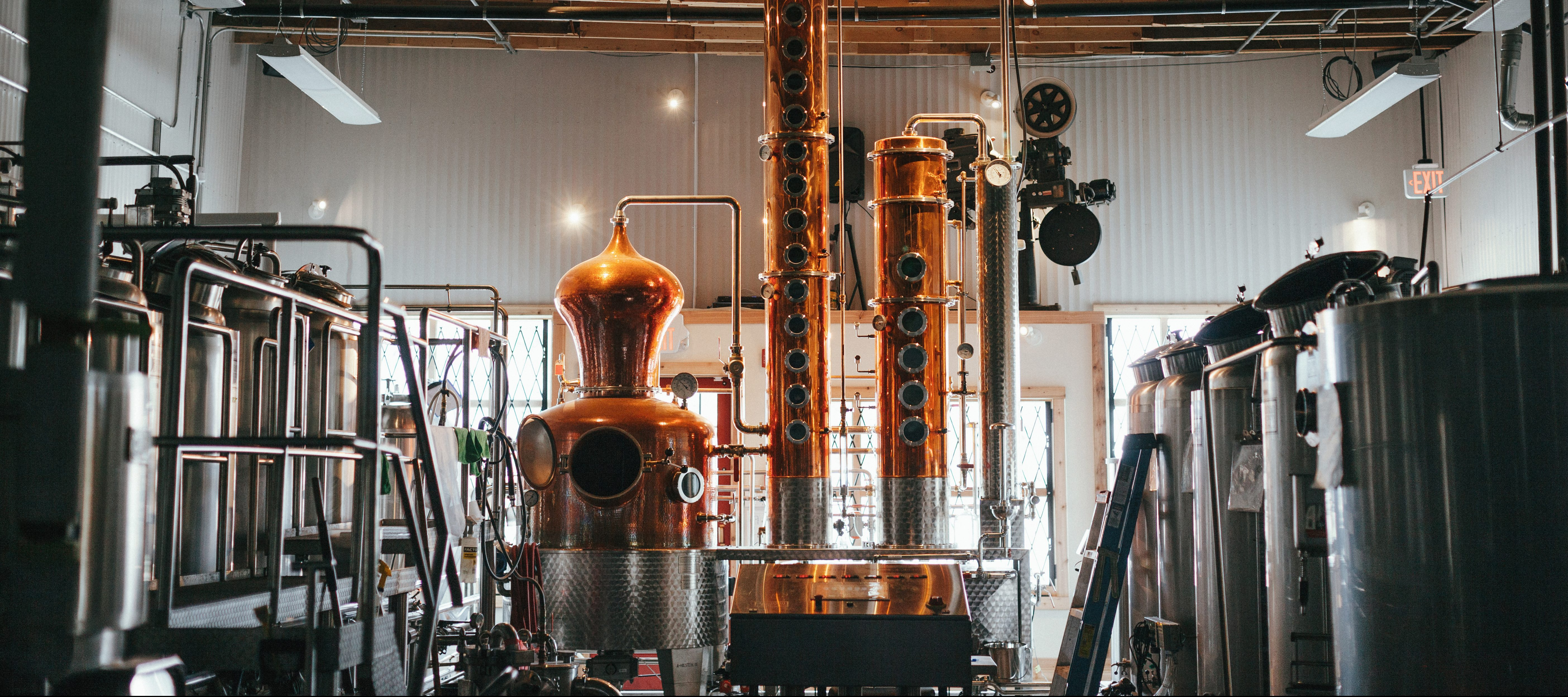 Eau Claire Distillery in Turner Valley