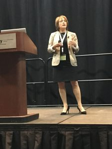 Beena Goldenberg, CEO of Hain Celestial Canada, speaking at Plant Protein Summit in Calgary 2019