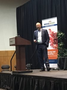 Ihab Leheta, Beyond Meat director of international sales, speaking at Calgary Plant Protein Summit 2019